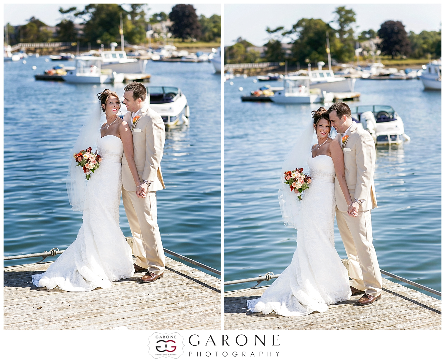 Jessa and Chris - Dockside Guest Quarters - York, ME Summer Wedding ...